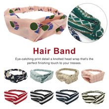 Boho style Headbands For Women Print Chiffon Ethnic Style Elastic Hairbands Lady Hair Ornament Holder Bands Accessories