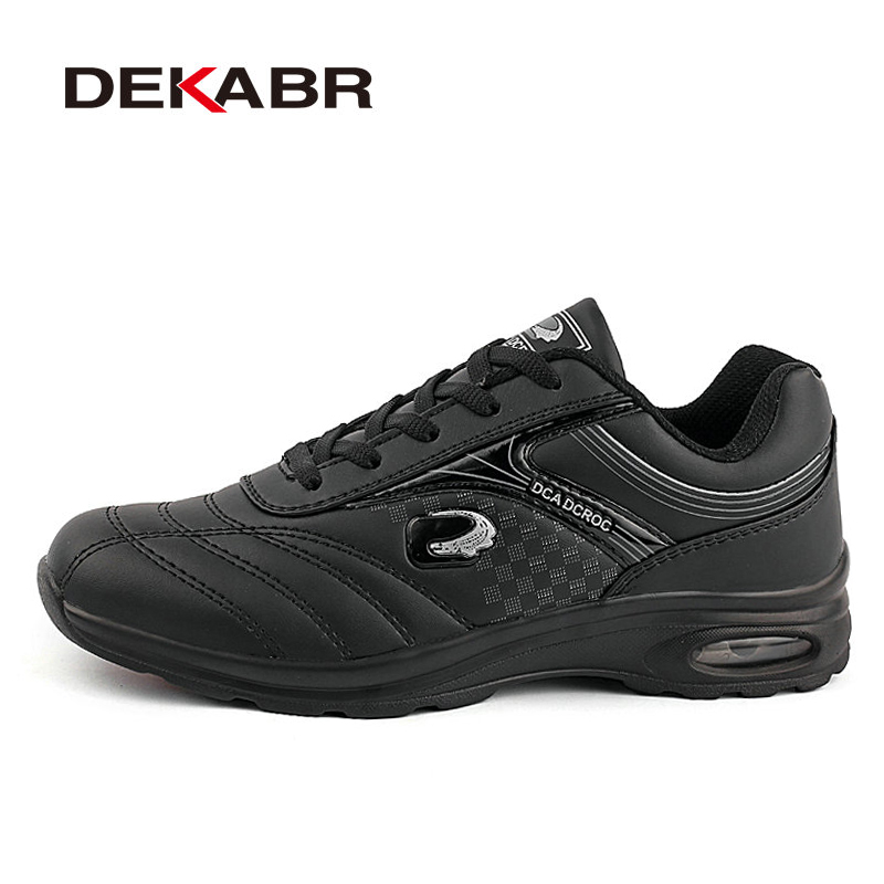 DEKABR New Men Running Shoes Run Athletic Trainers Man White Black Zapatillas Sports Shoe Max Cushion Outdoor Walking Sneakers