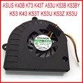 Nova dc280009wa0 mf60120v1-c181-s9a dc5v 0.4a para asus k43b k73 k43t A53U-XE3 K43 K53 K53B K53BY K53T K53U K53Z X53U Cooler fã