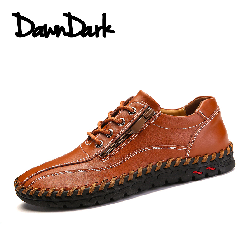 Men Shoes Genuine Leather Luxury Brand Lace Up Man Casual Driving Oxfords Men Loafers Moccasins Male Flats Sneakers Big Size big size men work casual shoes fashion mens loafers luxury genuine leather lace up flat father driving shoes lmx b0024