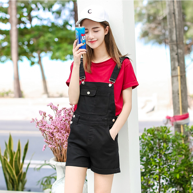 32a49f67ad83 DOSOMA Summer Short Denim Playsuits 2017 Korean Preppy Style Fashion Pocket  Womens Jumpsuit Girls Casual Denim Overalls Skinny -in Rompers from Women s  ...