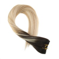 Moreso One Pieces Clip In Human Hair Extensions Human Hair Double Weft 3/4 Full Head Set 5Pcs 50 70Gram