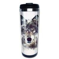wolf coffee mug that keeps coffee hot kids tazas stainless steel tumbler caneca tea Cups