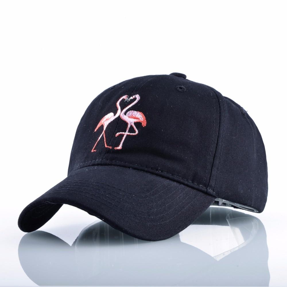 2017 New Cartoon Flamingo Embroidered Coupl Baseball Cap Dad Hat For Women  Men Summer Sun Visor Caps Snapback Hats Casquette 4b515b192a9