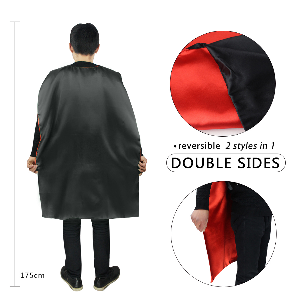 Special L 35* women adult Halloween costumes cape mask black fantasy spider-man cape fashion cloak Christmas costumes