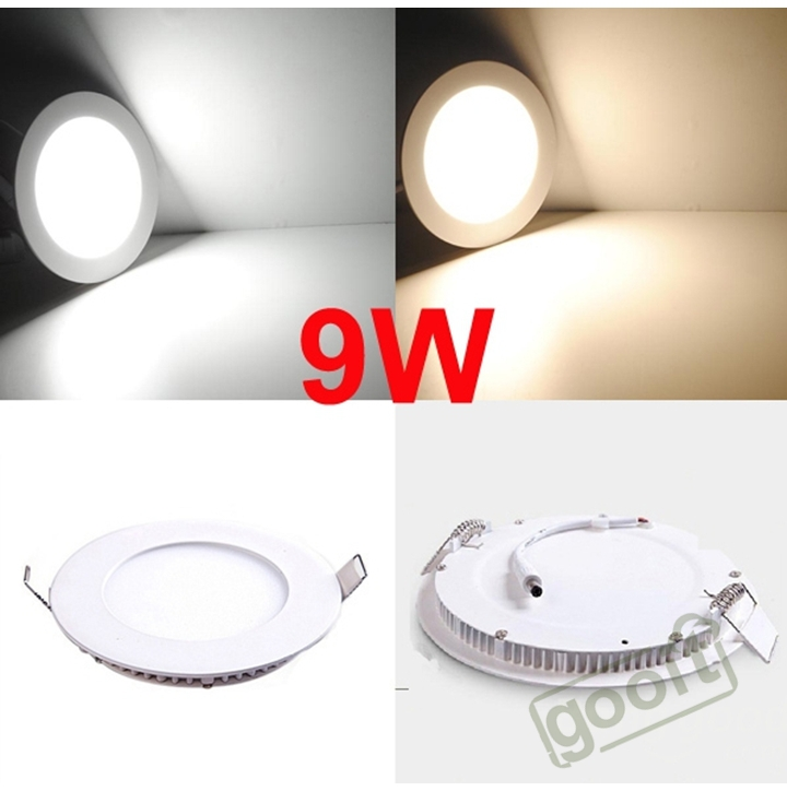 Ultra thin 9W 720 LM LED Panel Light Round 45pcs SMD2835 LEDs LED Ceiling Wall Light
