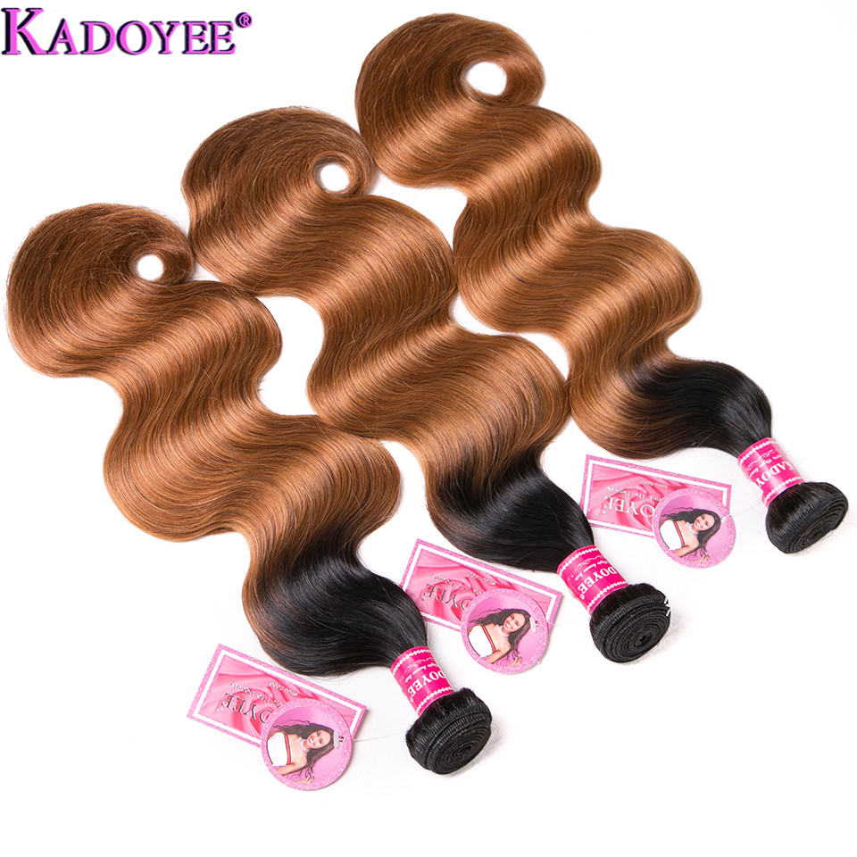 """Image 5 - Ombre Body Wave Human Hair Bundles With Closure 4pcs/lot Brazilian Hair Weave Bundles With Closure Remy Hair Extension 8"""" 26""""-in 3/4 Bundles with Closure from Hair Extensions & Wigs"""