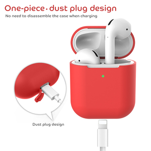 Image 3 - Wireless Charging Case For Airpods 2 Soft Matte Silicone Protective Cover For Apple Airpods 2nd Earphone Charging Cover Funda