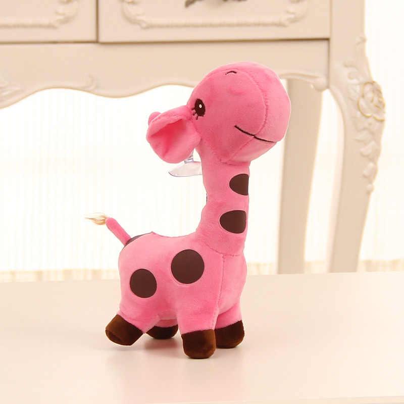 18cm Unisex śliczny prezent pluszowa żyrafa miękka zabawka zwierzę droga lalka dziecko dziecko dziecko boże narodzenie urodziny szczęśliwe kolorowe prezenty