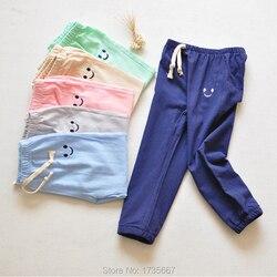 Детские штаны для путешествий из 100% хлопка, штаны-шаровары для девочек, детские штаны для мальчиков, брюки для малышей с эластичной резинкой...