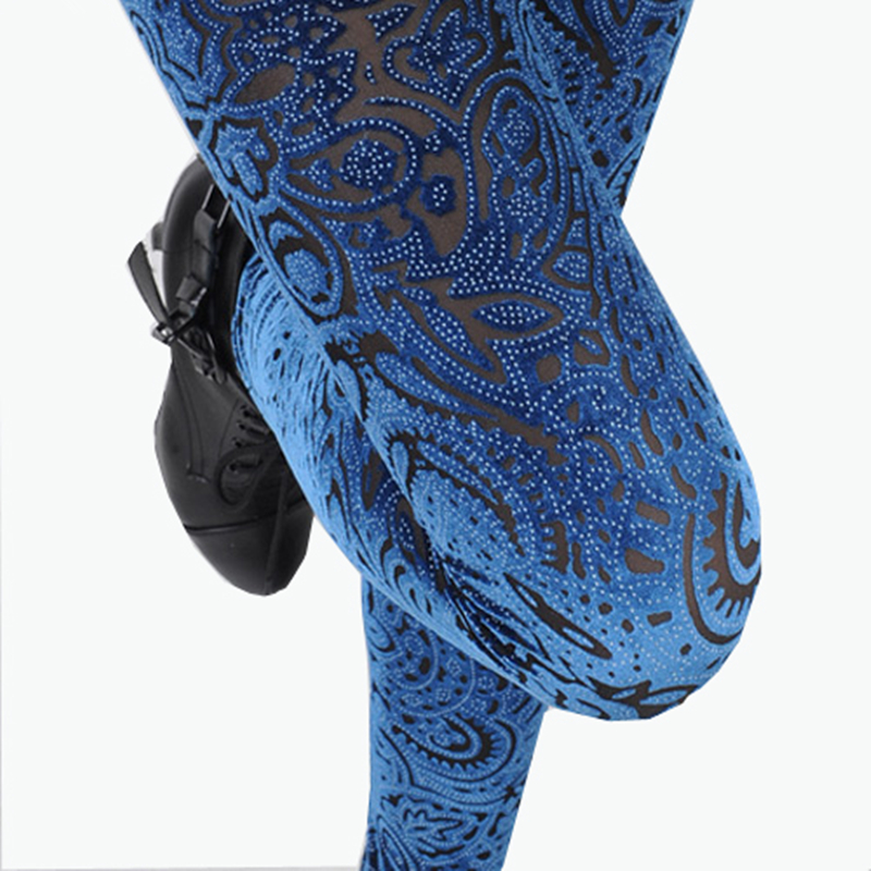 VISNXGI New Fashion Women's Leggings Lace Crochet Solid Color Female Lenggings Gold Velvet Leisure Style Free Size Leggings