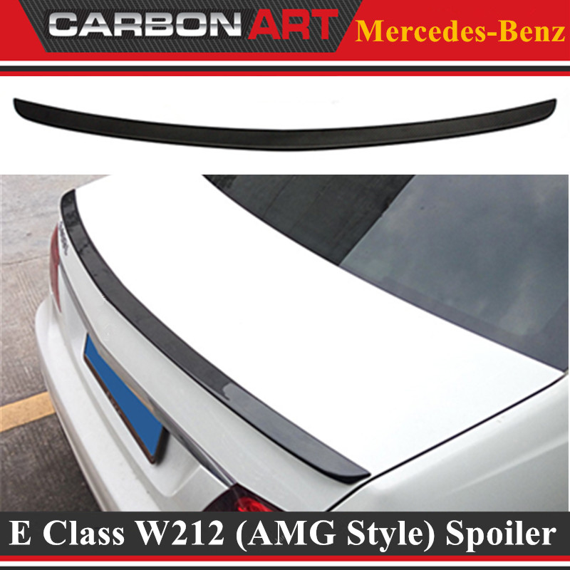 Mercedes W212 Car Styling Carbon Fiber Replacement Spoiler For Benz E Class W212 AMG Style 2010+ Rear Trunk Tail Spoiler Wing vw replacement genuine carbon fiber rear trunk spoiler wing back rear spoiler for volkswagen passat 2011 2015 car styling