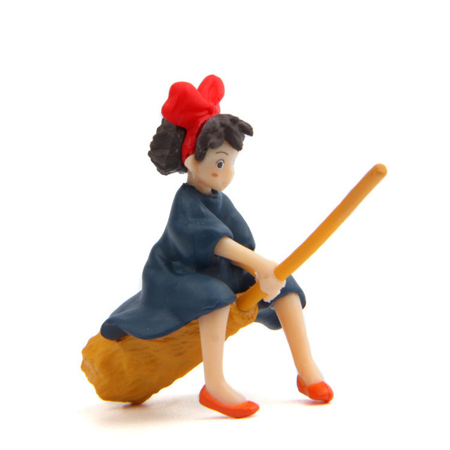Little Girl Sitting On The Broom Flying Doll Diy Dolls Crafts Home Decoration Accessories Feng Shui Miniatures Figurine Garden 1