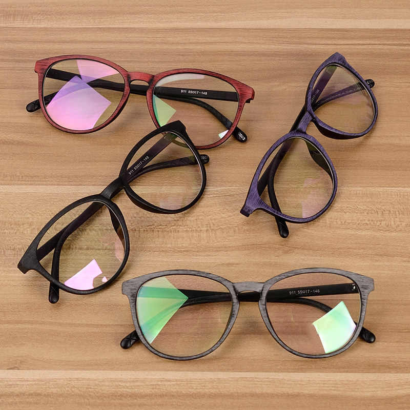 ea6965d493 ... Chashma Men and Women Unisex Wooden Pattern Fashion Optical Spectacles  Eyeglasses High Quality Glasses Optical Frame ...