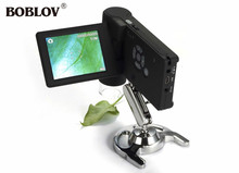 Sale BOBLOV UM039 20X-500X Portable 3″ inch LCD Digital Monocular Microscope 5.0MP 8 LED Rechargeable Battery