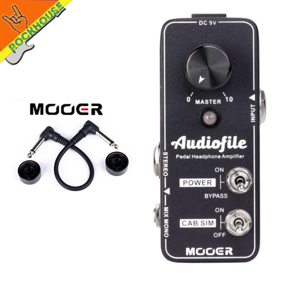 MOOER amplificateur de fichier audio pré-ampli pédale de guitare analogique classe A circuit d'amplification avec armoire Simulation stéréo Mono entrée