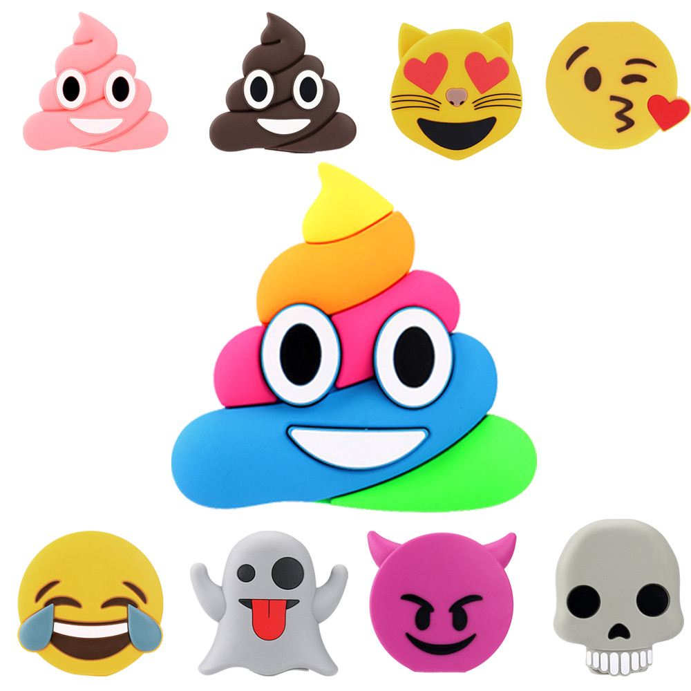 Cute Cartoon Emoji 8800mAh Ultra Thin Portable USB External Battery Charger Power Bank For Cell Phone Fashion Drop Shipping