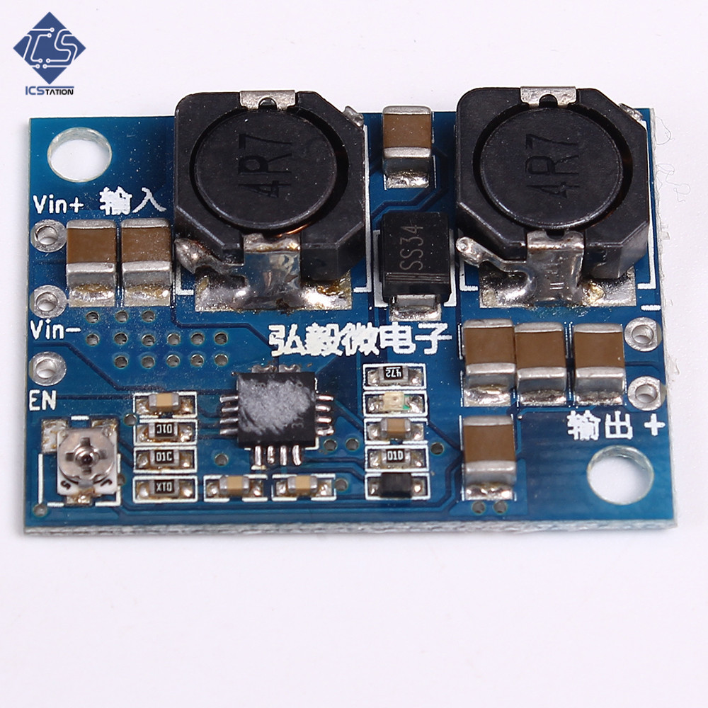 Power Module Board DC/DC Auto Step-Up/Down Boost Buck Module Overheat Short Circuit Protection Precise 3-18V 1.5A dc dc buck boost module for solar battery board red lm2577s lm2596s