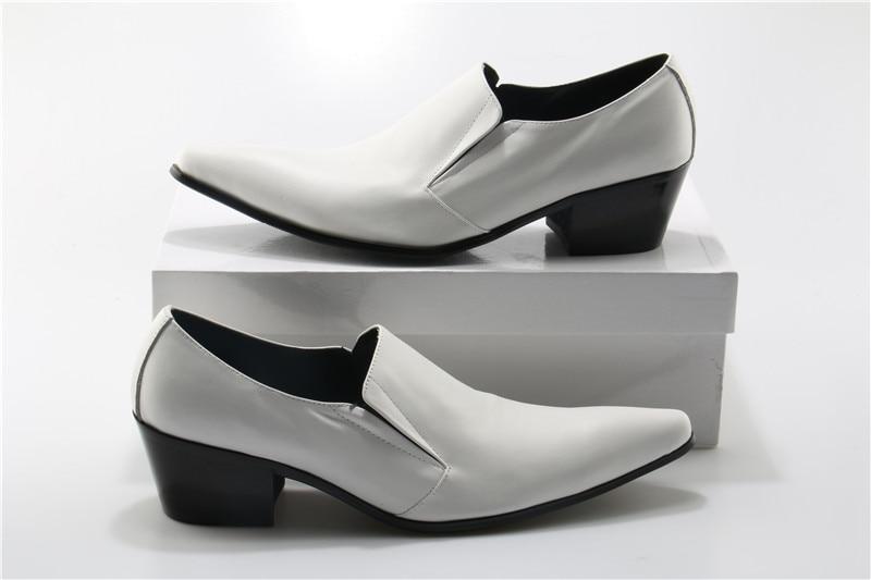 Okhotcn Cuir Slip Italien Sur 46 Sapato Taille Mode Masculino Mocassins Grand Mariage Blanc Chaussures De Hommes Bout Pointu En rrTwZ8q