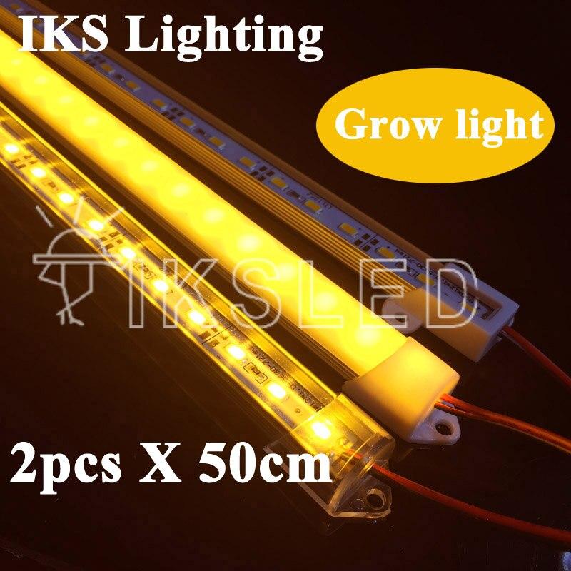 2pcs*50cm 5730 Led Rigid Strip Full Spectrum LED Grow Light 18W LED Grow Lamp Bulb For Flower Plant Hydroponics System DC12V