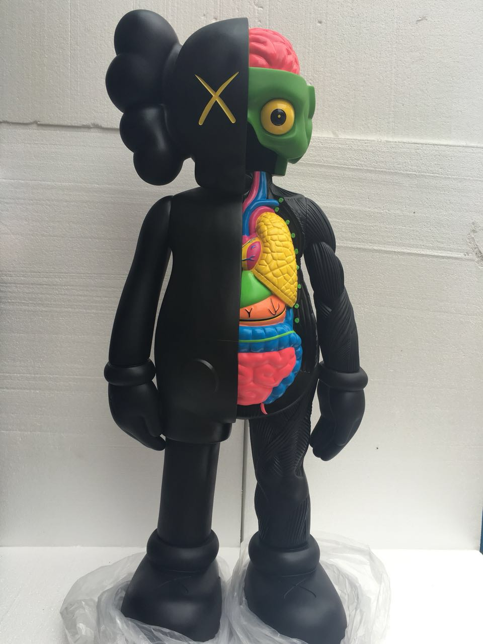 OriginalFake Kaws 4ft kaws dissected 1:1 KAWS TOYS For Home Decoration factory sample high quality originalfake kaws reas the twins mono with original box two color optional brown pink