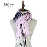 Jzhifiyer XG17-06ฤดูหนาวsshawlsคริลิคหนาjacquard scarve