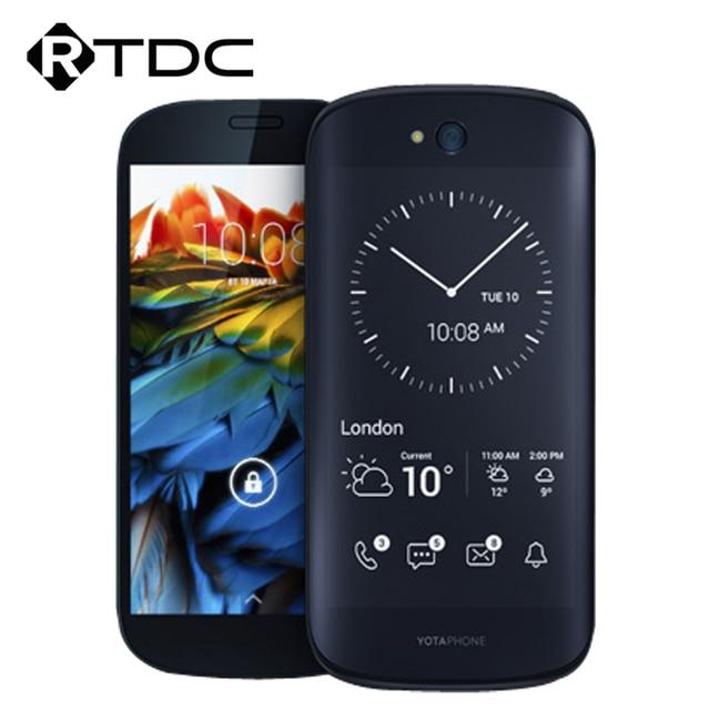 """Оригинал YOTA YotaPhone 2 YD206 4 Г LTE Мобильный Телефон Snapdragon 800 5.0 """"FHD 2 ГБ RAM 32 ГБ ROM Всегда-на E-ink Экран Назад"""