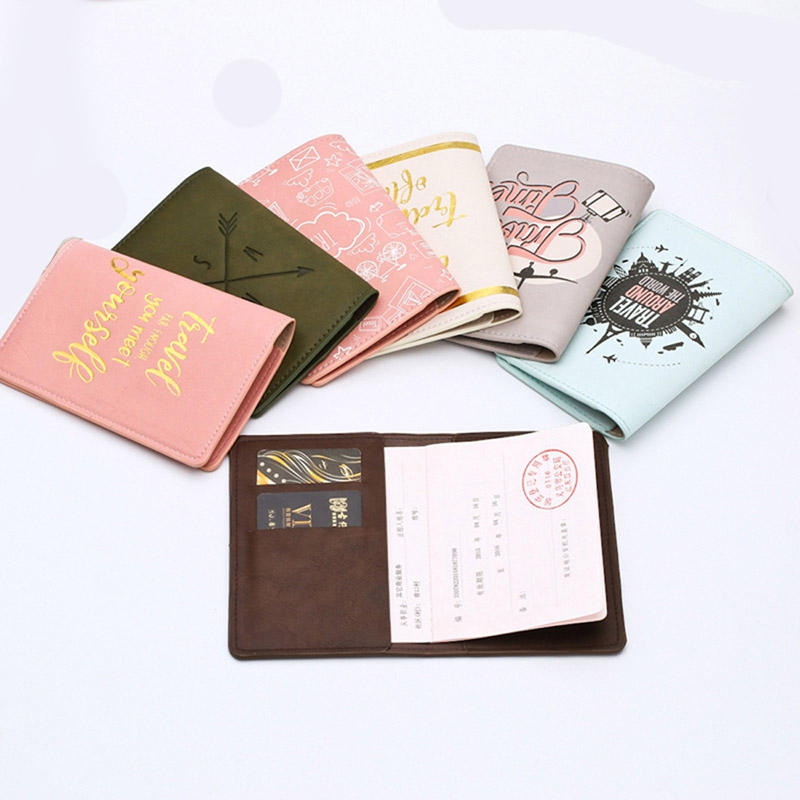 New Creative Travel Accessories Women Men Passport Holder Bag PU High Quanlity Travel Cover On The Passport Girl Passport Case