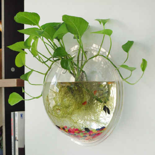 Garden Supplies Home Hanging Glass Ball Vase Flower Planter Pots Terrarium Container Home Garden Decoration