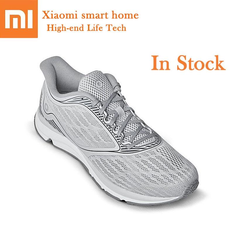 Original Xiaomi Amazfit Outdoor Running Shoes Men Breathable Refreshing Mesh ERC Material High Elasticity Smart Chip Sneaker