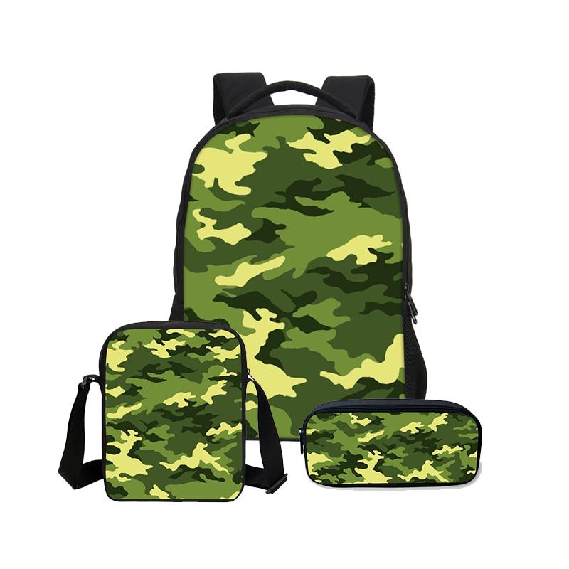 Hynes Eagle 3 Pcs Set School Backpack Female Printing Backpacks For Girls Women Shoulder Bag Men