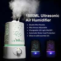 2016 Aromatherapy Ultrasonic Air Humidifier 110 240V LED Night Light With Carve Design Essential Oil Aroma