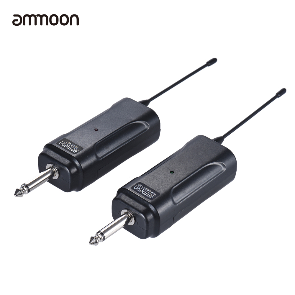 ammoon portable wireless audio transmitter receiver system for electric guitar bass electric. Black Bedroom Furniture Sets. Home Design Ideas