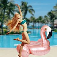 New Style Flamingo Shaped Floating Row Mount Inflatable Seat Swimming Ring Floating Ring Water Toy For Adult