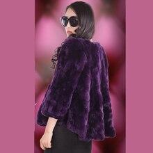 Autumn winter new 2016 tails women's rex rabbit fur coat outerwear women short O neck full sleeve fur jacket plus size S – 5XL