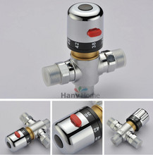 3 way Brass Thermostatic Mixing Valve Solar Water Heater Valve Adjust Temperature Control Valve Thermostatic mixer Valve