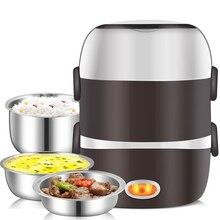 Подогреватель пищи, Мини электрическая рисоварка из нержавеющей стали, 2/3 слоев, пароварка, портативный, для еды, термоподогрев, Ланч-бокс, еда
