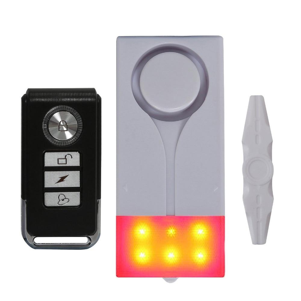 Wireless Vibration and Magnetic Alarm Anti-Theft Remote Control Door And Window Security Alarm wireless remote control vibration security alarm independly door window detector black