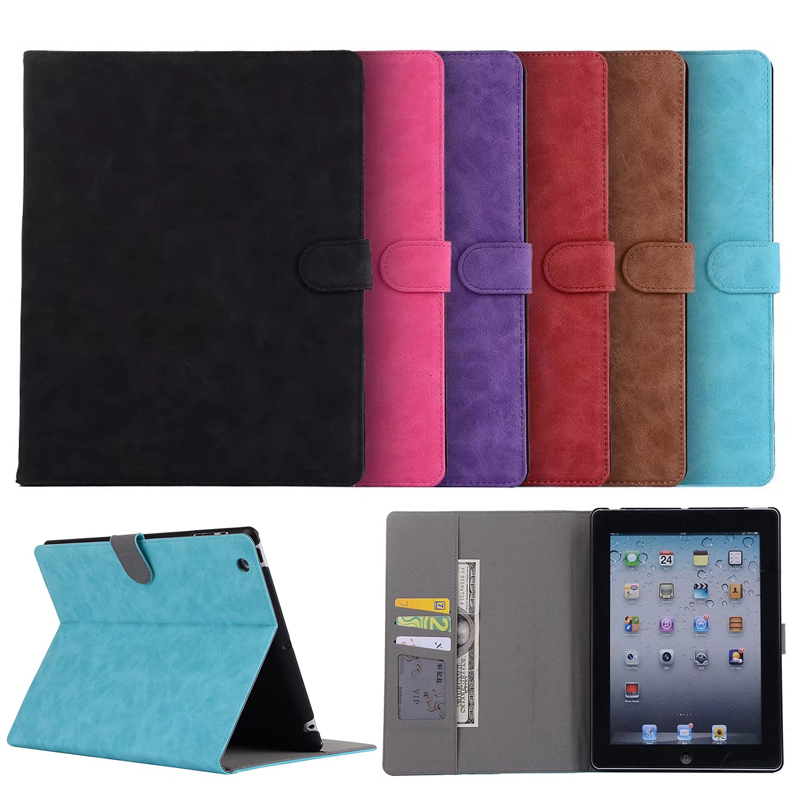 Retro Stand Funtion Business Book Leather Case For Apple iPad 2 3 4 Cases Tablets Cover For ipad2 3 4 9.7 Bag Case Capa