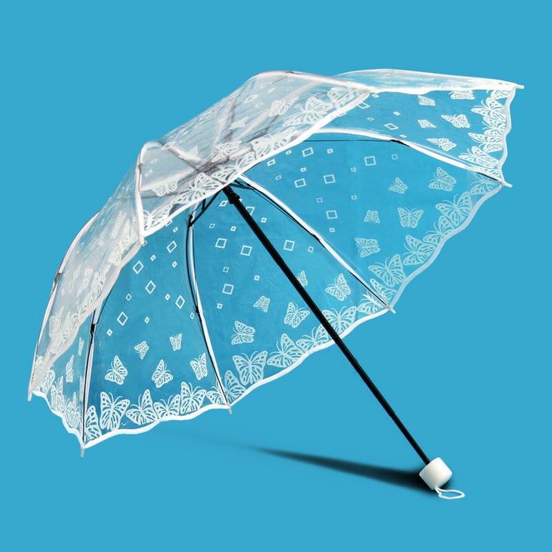 투명 플라스틱 PVC 나비 장미 꽃 패션 맑은 비오는 - 가정 용품 - 사진 1