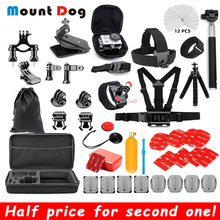 цена на For Go Pro Hero 7 6 5 4 Accessories Kit for Gopro 7 Session For EKEN SJCAM Xiaomi Yi 4k Case For Mijia Action Sport Camera