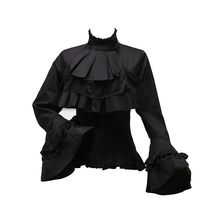 Rosetic Lolita Princess Style Blouses Tops Women Fall Flare Sleeve Harajuku Japanese Hot Tunic Girls Swallowtail Gothic Shirts(China)