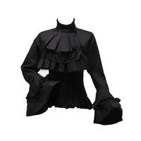 Rosetic Lolita Princess Style Blouses Tops Women Fall Flare Sleeve Harajuku Japanese Hot Tunic Girls Swallowtail Gothic Shirts