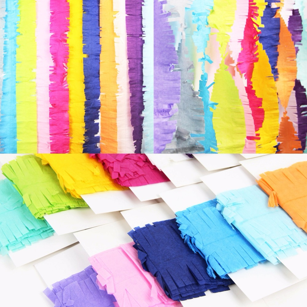 Buy 1pcs new 14 colors crepe paper for Paper curtains diy