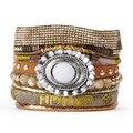 New Style Bohemia Summer HIPANEM Bracelet Handmade Beach Bracelet Magnetized Brazilian Glamour Jewelry Wholesale HIP226