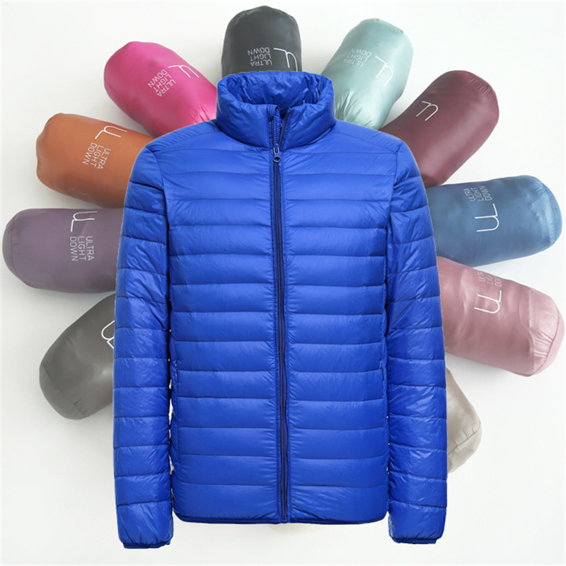 2019 New Mens Ultralight Jacket Casual Autumn Winter White Duck   Down   Windbreaker Overcoat Warm Parka Male   Coat   Fashion Outerwear