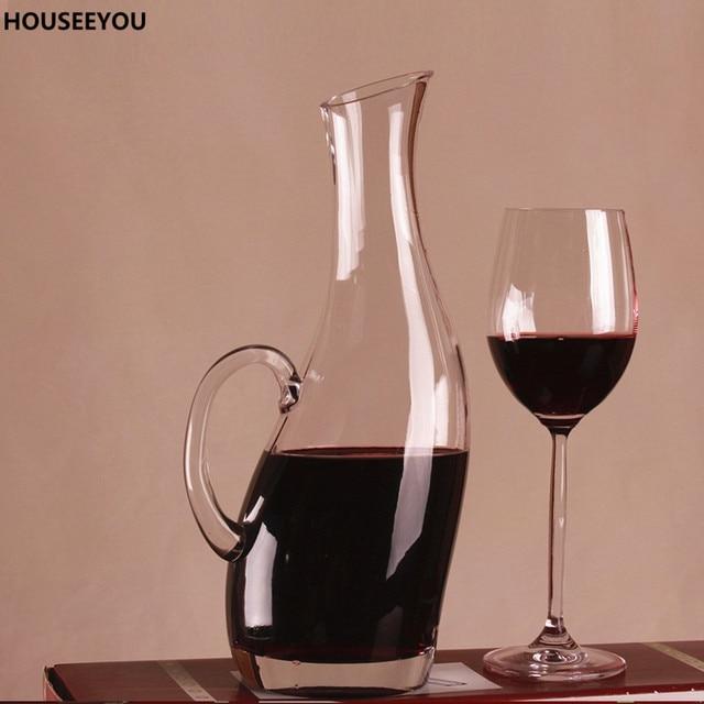 1000 ml Pinguin Form Bleifreier Kristall Glas Wein Decanter Belüfter ...