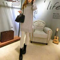 Fashion New Trend Pure Cashmere Blend Long Sweater Women True Cashmere Turtleneck Pullovers FP721