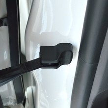 Door Lock in Chrome and Stop Cover in Black for Case Protection