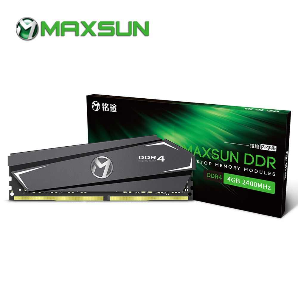 MAXSUN ram ddr4 4gb 2400mhz desktop memory Lifetime warranty Interface Type 288pin Memory Voltage 1.2V single memoria rams ddr 4